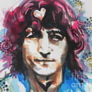 John Lennon..up Close Art Print
