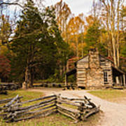 John Oliver Pioneer Cabin Art Print