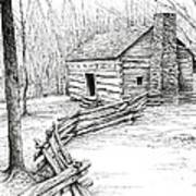 John Ownby Cabin Art Print