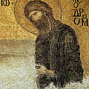 John The Baptist-detail Of Deesis Mosaic  Hagia Sophia-judgement Day Art Print by Urft Valley Art