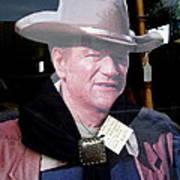 John Wayne Cardboard Cut-out In Store Window Tombstone  Arizona 2004 Art Print