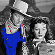 John Wayne Gail Russell Angel And The Badman  Publicity Photo 1947-2012 Art Print