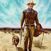 John Wayne Hondo Art Print
