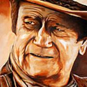 John Wayne Art Print by Jake Stapleton