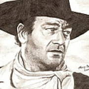 John Wayne Art Print by Michael Mestas