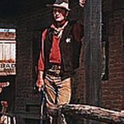 John Wayne Porch Of His Sheriff's Office Rio Bravo  Old Tucson Arizona 1959-2013 Art Print