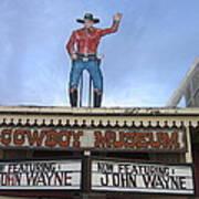John Wayne Shuttered Cowboy Museum Close-up Tombstone Arizona 2004 Art Print