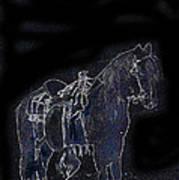 John Wayne The Horse Soldiers 1959 Homage #1 C.1880 Horse And Saddle-2009 Art Print