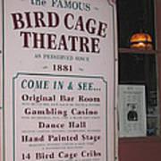 John Wayne's Filmography Bird Cage Theater Tombstone Az  2004 Art Print