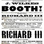John Wilkes Booth Playbill Art Print