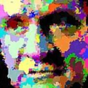 Johnny Cash - Abstarct Art Print