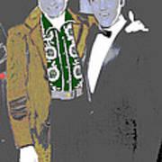 Johnny Cash  Elvis Presley Backstage Memphis Tn  Photographer Unknown  Art Print
