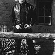 Johnny Cash Gunslinger Hitching Post Old Tucson Arizona 1971  Art Print