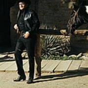 Johnny Cash Horse Old Tucson Arizona 1971 Art Print