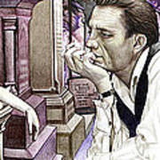 Johnny Cash-hurt Art Print