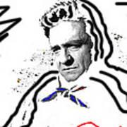 Johnny Cash Man In White Literary Homage Old Tucson Arizona 1971-2008 Art Print