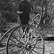 Johnny Cash  Meditating Wagon Wheel Graveyard Old Tucson Arizona 1971 Art Print