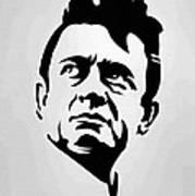 Johnny Cash Poster Art Portrait Art Print