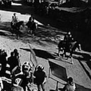 Johnny Cash Riding Horse Filming Promo Main Street Old Tucson Arizona 1971 Art Print