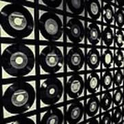 Johnny Cash Vinyl Records Art Print