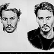 Johnny Depp 4 Art Print
