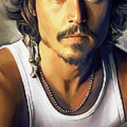 Johnny Depp Artwork Art Print