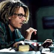 Johnny Depp as Mort Rainey @ Secret Window Art Print
