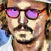 Johnny Depp Actor Art Print