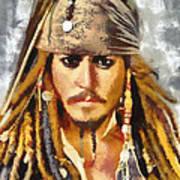 Johnny Depp Jack Sparrow Actor Art Print