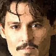 Johnny Depp Portrait Art Print