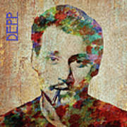 Johnny Depp Watercolor Splashes Art Print