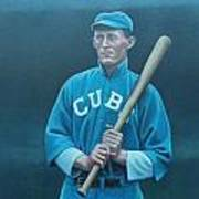 Johnny Evers Art Print by Mark Haley