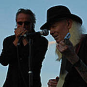 Johnny Winter And James Montgomery Playing The Blues Art Print