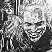 Joker And Harley Quinn  Art Print