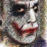 Joker - Pout Art Print by Rachel Scott