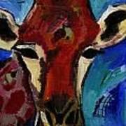 Jolly Giraffe  Art Print