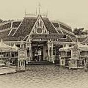 Jolly Holiday Cafe Main Street Disneyland Heirloom Art Print