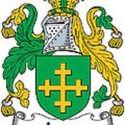 Jones Coat Of Arms Kildare Ireland  Art Print