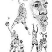 Jordan At His Best Art Print by Joe Rozek