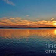 Jordan Lake Sunset 2 Print by Kelly Nowak