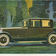 Jordan Line Eight Victoria Car 1925 Art Print by The Advertising Archives