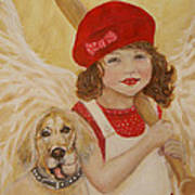 Joscelyn And Jolly Little Angel Of Playfulness Art Print by The Art With A Heart By Charlotte Phillips