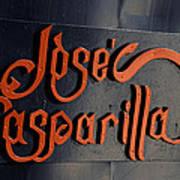 Jose Gasparilla Name Plate Color Art Print