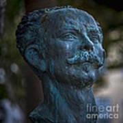 Jose Marti Statue Cadiz Spain Art Print