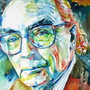 Jose Saramago Portrait Art Print