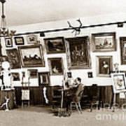 Joseph Kurtz Oliver Artist In His Studio Monterey Circa 1905 Art Print