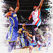 Josh Smith Of The Detroit Pistons Art Print