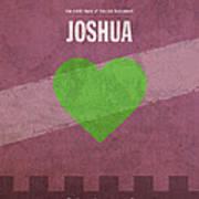 Joshua Books Of The Bible Series Old Testament Minimal Poster Art Number 6 Art Print