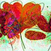 Joy Flower Abstract Art Print