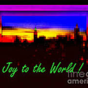 Joy To The World - Empire State Christmas And Holiday Card Art Print